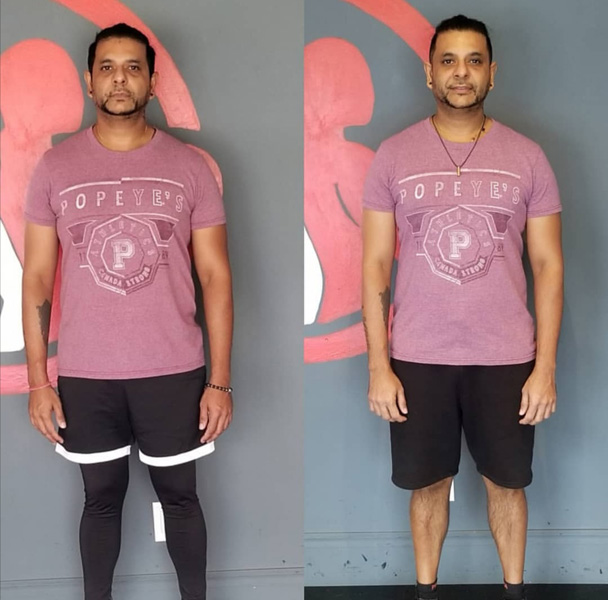 Body Fitness training result in man
